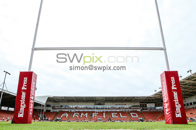Picture by Alex Whitehead/SWpix.com - 24/05/2015 - Rugby League - Kingstone Press Championship Summer Bash - Dewsbury Rams v Batley Bulldogs - Bloomfield Road, Blackpool, England - branding