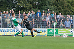 08.09.2018, pk-Sportpark, Cloppenburg, GER, FSP, SV Meppen vs Werder Bremen <br /> <br /> DFL REGULATIONS PROHIBIT ANY USE OF PHOTOGRAPHS AS IMAGE SEQUENCES AND/OR QUASI-VIDEO.<br /> <br /> im Bild / picture shows<br /> Pascal Hackethal (Werder Bremen U19 #50) mit Torschuss und Treffer zum 1:3, <br /> <br /> Foto &copy; nordphoto / Ewert