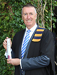 28/8/2015    Attending the UL conferring recently was Michael Carr, Lisnagry who was conferred with a Certificate in Exercise and Health Fitness.<br /> Photograph Liam Burke/Press 22