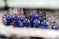 Eine Pressekonferenz der besonderen Art boten die Judokas vom Judoclub Leipzig JCL - in einer alten Fabrikhalle an der Zschocherschen / Markranstädter Straße trainierten sie sehr spartanisch mit Gewichten im Zirkeltraining und kämpften auf der Tatami im morbiden Ambiente - das Bundesligateam / Mannschaft. Foto: aif / Norman Rembarz<br /> <br /> Jegliche kommerzielle wie redaktionelle Nutzung ist honorar- und mehrwertsteuerpflichtig! Persönlichkeitsrechte sind zu wahren. Es wird keine Haftung übernommen bei Verletzung von Rechten Dritter. Autoren-Nennung gem. §13 UrhGes. wird verlangt. Weitergabe an Dritte nur nach  vorheriger Absprache. Online-Nutzung ist separat kostenpflichtig.