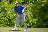 Ryan Palmer (USA) watches his tee shot on 2 during Round 2 of the Zurich Classic of New Orl, TPC Louisiana, Avondale, Louisiana, USA. 4/27/2018.<br /> Picture: Golffile | Ken Murray<br /> <br /> <br /> All photo usage must carry mandatory copyright credit (&copy; Golffile | Ken Murray)