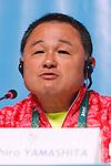 Yasuhiro Yamashita (JPN), <br /> AUGUST 21, 2016 : Seiko Hashimoto, Yasuhiro Yamashita, Yuji Takada attend a press conference at Main Press Center during the Rio 2016 Olympic Games in Rio de Janeiro, Brazil. <br /> (Photo by Sho Tamura/AFLO SPORT)