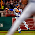 21 September 2018: New York Mets outfielder Amed Rosario gets the first out in the bottom of the 7th inning against the Washington Nationals at Nationals Park in Washington, DC. The Mets defeated the Nationals 4-2 in the second game of their 4-game series. Mandatory Credit: Ed Wolfstein Photo *** RAW (NEF) Image File Available ***