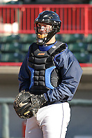 April 11, 2005:  Catcher Joe Hietpas of the Binghamton Mets during a game at Jerry Uht Park in Erie, PA.  Binghamton is the Eastern League Double-A affiliate of the New York Mets.  Photo by:  Mike Janes/Four Seam Images