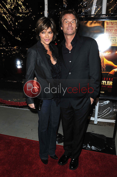 Lisa Rinna and Harry Hamlin <br /> at the Los Angeles Premiere of 'The Wrestler'. The Academy Of Motion Arts &amp; Sciences, Los Angeles, CA. 12-16-08<br /> Dave Edwards/DailyCeleb.com 818-249-4998