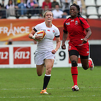 Danielle Waterman in action. WRWC England v Canada, World Cup Final at Stade Jean Bouin, Avenue du Général Sarrail, Paris, France, on 17th August 2014