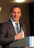 Pictured: Manager Brendan Rodgers. Wednesday 04 May 2011<br />