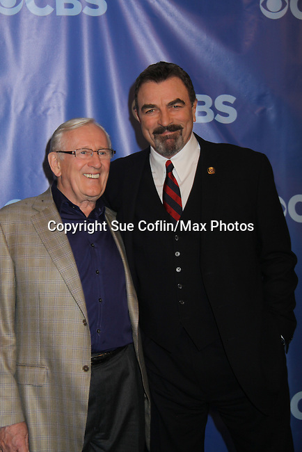 Len Carlou & Tom Selleck - Blue Bloods at the CBS Upfront 2011 on May 18, 2011 at Lincoln Center, New York City, New York. (Photo by Sue Coflin/Max Photos)