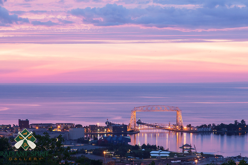 &quot;Aerial Lift Bridge Sunrise&quot;<br />