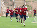 Michael Bradley, a non-roster practice player, leads a group of players during a timed run on Thursday, May 11th, 2006 at SAS Soccer Park in Cary, North Carolina. The United States Men's National Soccer Team held a training session as part of their preparations for the upcoming 2006 FIFA World Cup Finals being held in Germany.