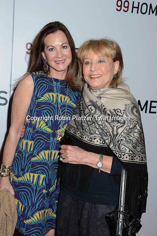 Judith Giuliani and Barbara Walters attend the New York Premiere of &quot;99 Homes&quot; on September 17, 2015 at AMC Loews Lincoln Square in New York City, New York, USA.<br /> <br /> photo by Robin Platzer/Twin Images<br />  <br /> phone number 212-935-0770