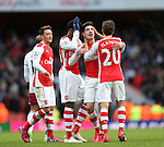 Arsenal's Hector Bellerin celebrates scoring his sides fifth goal<br /> <br /> Barclays Premier League - Arsenal vs Aston Villa - Emirates Stadium  - England - 1st February 2015 - Picture David Klein/Sportimage