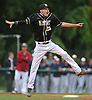 Brendan Haas #25, Wantagh pitcher, reacts after the final out in Game 3 of the Nassau County varsity baseball Class A final against Garden City at SUNY Old Westbury on Tuesday, May 30, 2017. He pitched a complete game. Wantagh won 4-2 to take the best-of-three series two games to one.