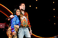 LOS ANGELES, CALIFORNIA - JUNE 22: Yung Miami and G-Eazy perform at the 7th Annual BET Experience at L.A. Live Presented by Coca-Cola at Staples Center on June 22, 2019 in Los Angeles, California. Photo: imageSPACE/MediaPunch