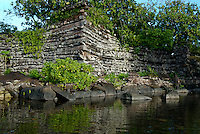 THE ANCIENT NAN MADOL RUINS, IN POHNPEI, MICRONESIA