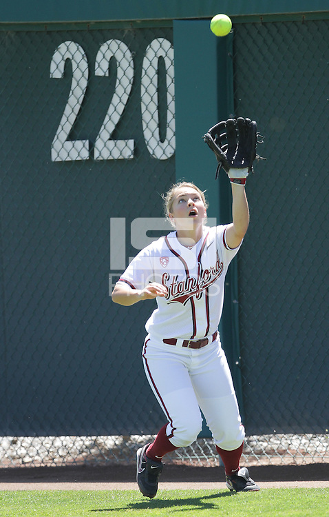 STANFORD, CA - April 30, 2011:  Caitlyn Pura before Stanford's 7-1 loss to Washington at Stanford, California on April 30, 2011.