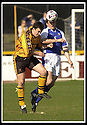 06/04/2002                 Copyright Pic : James Stewart .Ref :     .File Name : stewart-alloa v qos   19.ANDY SEATON AND ANDY AITKEN CHALLENGE FOR THE BALL.....James Stewart Photo Agency, 19 Carronlea Drive, Falkirk. FK2 8DN      Vat Reg No. 607 6932 25.Office     : +44 (0)1324 570906     .Mobile  : + 44 (0)7721 416997.Fax         :  +44 (0)1324 630007.E-mail  :  jim@jspa.co.uk.If you require further information then contact Jim Stewart on any of the numbers above.........