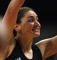NZ centre Temepara George during the International  Netball Series match between the NZ Silver Ferns and World 7 at TSB Bank Arena, Wellington, New Zealand on Monday, 24 August 2009. Photo: Dave Lintott / lintottphoto.co.nz