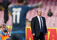 Rafael Benitez    in action during the Italian Serie A soccer match between   SSC Napoli and Empolii    at San Paolo   stadium in Naples , December 07, 2014