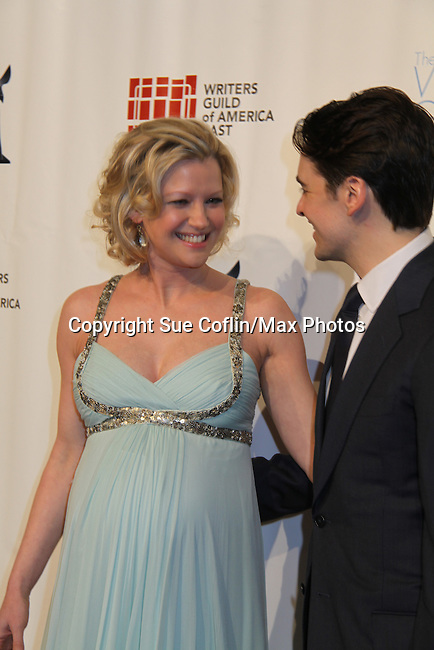 Gretchen Mol & Vincent Piazza (Broadwalk Empire) attends The 63rd Annual Writers Guild Awards on Sarturday, February 5, 2011 at the AXA Equitable Center, New York City, New York. (Photo by Sue Coflin/Max Photos)