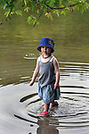 Violet Peters, exploring along a bank of the Esopus Creek, during a Hike It Baby/ Catskills-Woodstock sponsored hike into the Esopus Bend Nature Preserve in Saugerties, NY, on Memorial Day Monday, May 30, 2016. Photo by Jim Peppler. Copyright Jim Peppler 2016.<br /> The hike was led by HIB.Catskill-Woodstock, Ambassador, Ann Peters, accompanied by her husband, John Peters, their daughter, Violet; HIB chapter co-Ambassador, Ali Troxell, with her daughter, Lucia; and Robin Willens, and her son, Landon. They entered at the Sterley Avenue entrance and walked thru to the landing area on the Esopus.