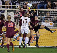 Ashley Meier, Kelsey Wys. Florida State defeated Virginia Tech, 3-2,  at the NCAA Women's College Cup semifinals at WakeMed Soccer Park in Cary, NC.
