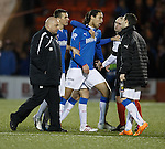 Bilel Mohsni and Gary Bollan head up the tunnel together