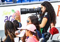 Fotografa con jersey de mexico. <br /> <br /> Aspectos del segundo d&iacute;a de actividades de la Serie del Caribe con el partido de beisbol  &Aacute;guilas Cibae&ntilde;as de Republica Dominicana contra Caribes de Anzo&aacute;tegui de Venezuela en estadio Panamericano en Guadalajara, M&eacute;xico,  s&aacute;bado 3 feb 2018. (Foto  / Luis Gutierrez)