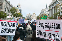"Anti-racist demonstration with the motto: ""Building Anti-racist Memories"" through the streets of downtown Madrid on November 17, 2019"