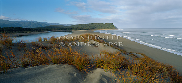 Cascade River and Beach. Westland Region. New Zealand.