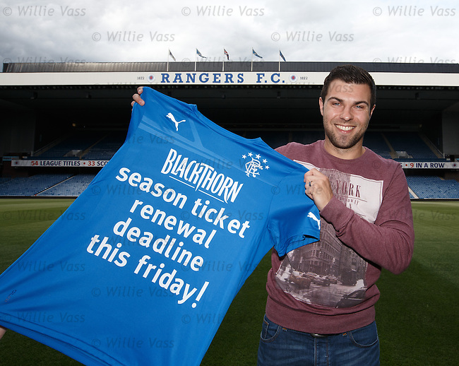 Richard Foster back at Ibrox and promoting the season ticket deadline for Rangers supporters to renew