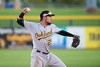 Mesa Solar Sox third baseman Renato Nunez (25) throws to first during an Arizona Fall League game against the Peoria Javelinas on October 21, 2015 at Peoria Stadium in Peoria, Arizona.  Peoria defeated Mesa 5-3.  (Mike Janes/Four Seam Images)