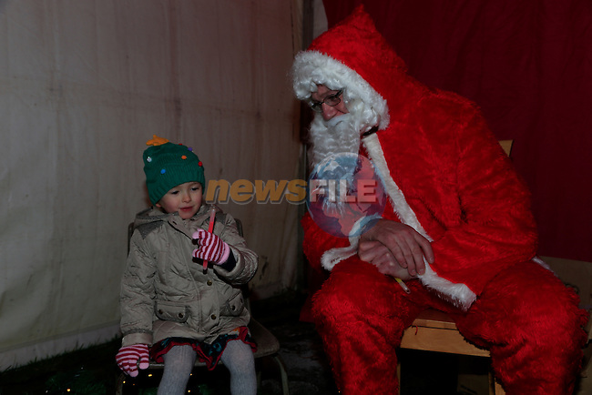 Niamh Maguire visiting Santa in Slane<br /> Picture: Fran Caffrey www.newsfile.ie