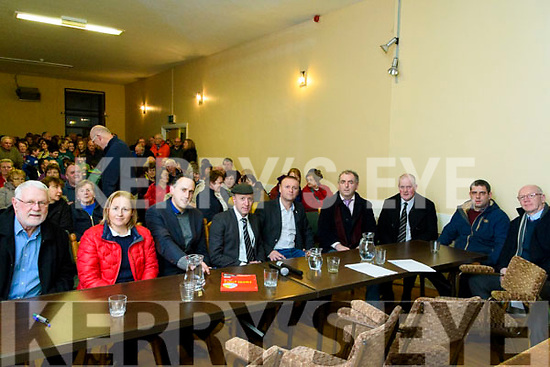 Councillors at the meeting in Glencar Community Centre for retention of Glencar Post Office at on Friday night.
