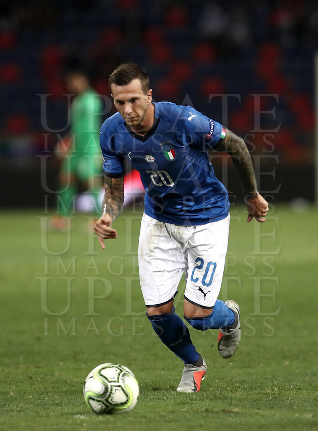 Football: Uefa Nations League match Italy vs Poland, Renato Dall'Ara stadium, Bologna, Italy, September 7, 2018. <br /> Italy's Federico Bernardeschi in action during the Uefa Nations League match between Italy and Poland at the Renato Dall'Ara stadium, Bologna, Italy, September 7, 2018. <br /> <br /> UPDATE IMAGES PRESS/Isabella Bonotto
