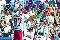 Boomer Foster (87) TD, University of Florida Gators defeat the University of South Carolina Gamecocks 48-17 at Ben Hill Griffin Stadium, Florida Field, Gainseville, Florida, November 12, 1994 . (Photo by Brian Cleary/www.bcpix.com)