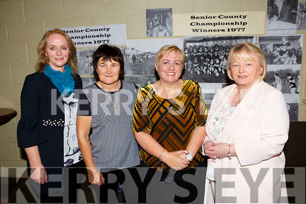 Austin Stacks Ladies celebrate the 40th anniversary of their 1st Senior County Championship win in 1977 at Austin Stacks Clubhouse on Saturday. Pictured Rosaleen Cusack, Jackie Moriarty, Sheila Power, Marion Reidy