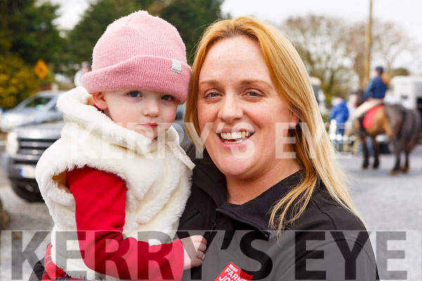 Aine and Joanne Stack from Asdee enjoying the North Kerry Harriers hunt in Asdee on Sunday last.