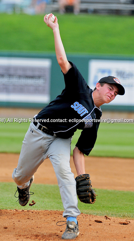 22 August 2009:  Forest Hills Jason Heinrich pitches as Forest Hills, FL defeats Mexico 7-6 to win the Cal Ripken World Series in Aberdeen, Maryland