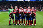 Atletico de Madrid's team photo with Jan Oblak, Filipe Luis, Santiago Arias, Thomas Teye, Koke Resurreccion, Antoine Griezmann, Angel Martin Correa, Thomas Lemar, Rodrigo Hernandez, Stefan Savic and Lucas Hernandez during UEFA Champions League match between Atletico de Madrid and AS Monaco at Wanda Metropolitano Stadium in Madrid, Spain. November 28, 2018. (ALTERPHOTOS/A. Perez Meca)