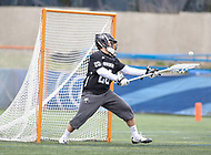 Washington, DC - April 7, 2018: Providence Friars Tate Boyce (20) makes a save during game between Providence and Georgetown at  Cooper Field in Washington, DC.   (Photo by Elliott Brown/Media Images International)