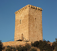 Campredo tower, medieval observation post, Campredo, Tarragona, Spain. Just opposite, on the right side of the Ebro river is the Tower of La Carrova. Both towers prevented the ennemy ships to enter in Tortosa. Picture by Manuel Cohen