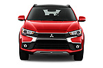 Car photography straight front view of a 2017 Mitsubishi Outlander-Sport GT 5 Door SUV Front View