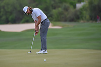 Tommy Fleetwood (ENG) watches his putt on 15 during day 3 of the WGC Dell Match Play, at the Austin Country Club, Austin, Texas, USA. 3/29/2019.<br /> Picture: Golffile | Ken Murray<br /> <br /> <br /> All photo usage must carry mandatory copyright credit (© Golffile | Ken Murray)