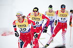 HOLMENKOLLEN, OSLO, NORWAY - March 16: (L) Mikko Kokslien of Norway (NOR) during the cross country 15 km (2 x 7.5 km) competition at the FIS Nordic Combined World Cup on March 16, 2013 in Oslo, Norway. (Photo by Dirk Markgraf)