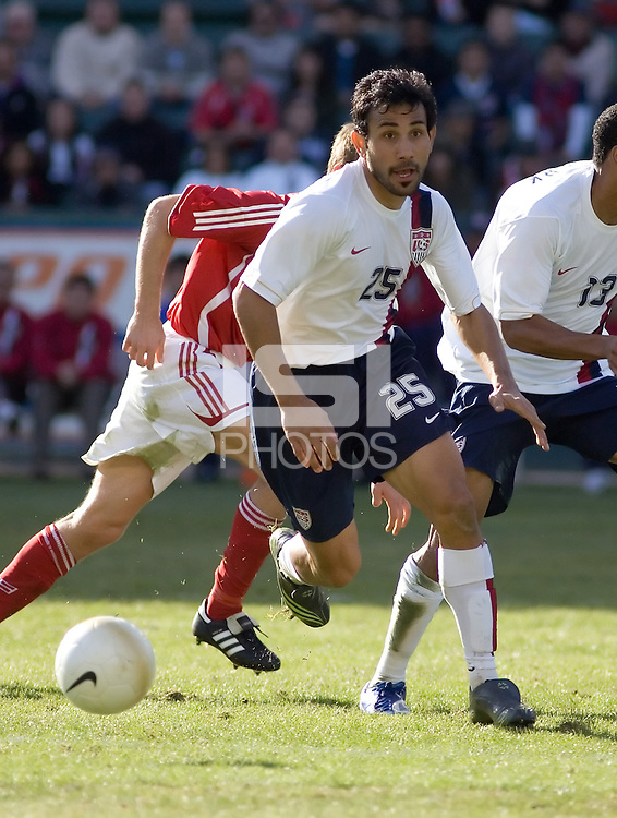 Pablo Mastroeni runs for the ball. The USA defeated Denmark 3-1 in an International friendly at the Home Depot Center in Carson, CA on January 20, 2007.