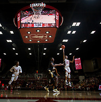 Stanford, CA - January 24, 2020: Kiana Williams, Nadia Fingall at Maples Pavilion. The Stanford Cardinal defeated the Colorado Buffaloes in overtime, 76-68.