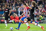 Angel Correa of Atletico de Madrid competes for the ball with Tin Jedvaj of Bayer 04 Leverkusen during their 2016-17 UEFA Champions League Round of 16 second leg match between Atletico de Madrid and Bayer 04 Leverkusen at the Estadio Vicente Calderon on 15 March 2017 in Madrid, Spain. Photo by Diego Gonzalez Souto / Power Sport Images