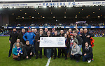 Rangers Charity Foundation present a cheque for £70K to the Glasgow City Mission after fans has a sponsored sleep-out at Ibrox