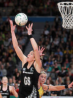 16.09.2012 Silver Ferns Irene Van Dyk and Australian Julie Corletto in action during the first netball test match between the Silver Ferns and the Australian Diamonds played at the Hisense Arena In Melbourne. Mandatory Photo Credit ©Michael Bradley.